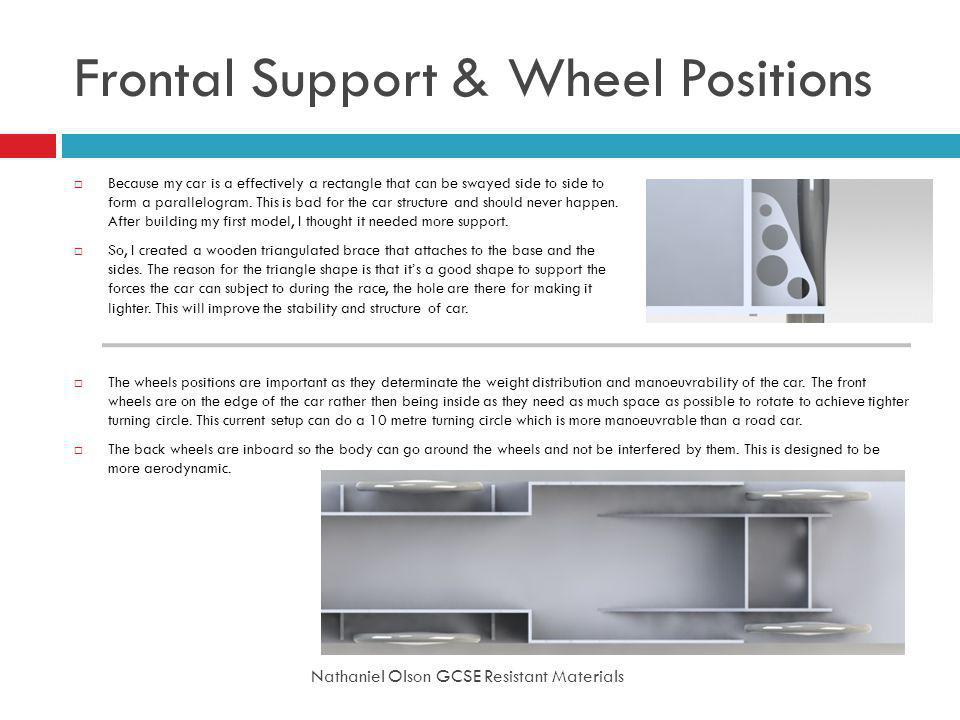Frontal Support & Wheel Positions