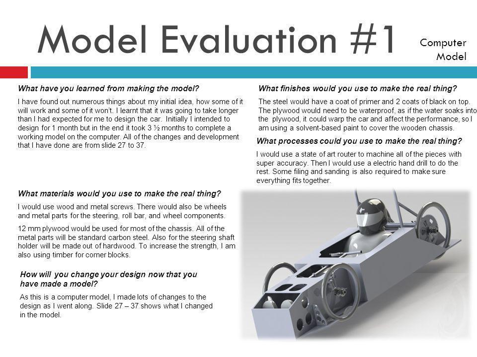 Model Evaluation #1 Computer Model