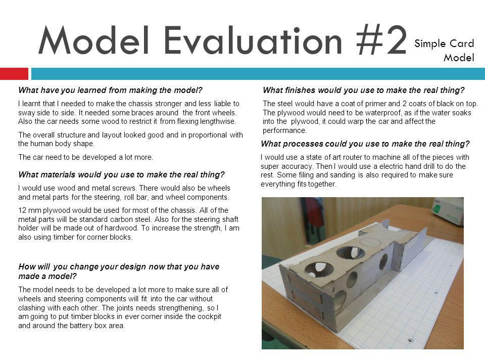 Model Evaluation #2 Simple Card Model