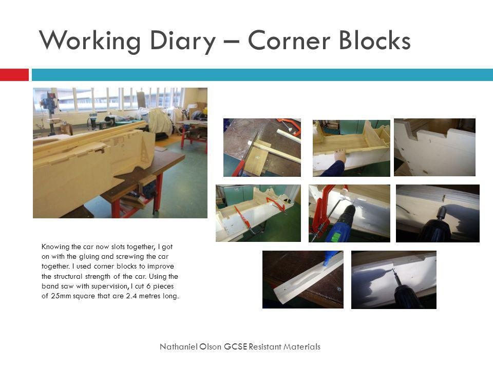 Working Diary – Corner Blocks