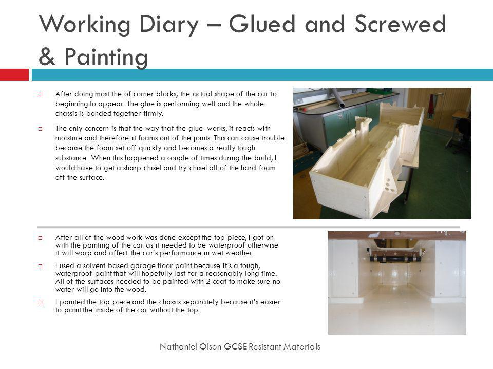 Working Diary – Glued and Screwed & Painting