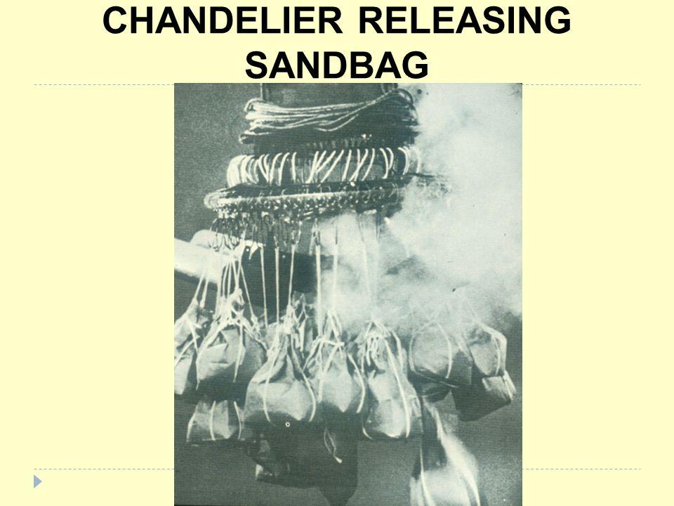 CHANDELIER RELEASING SANDBAG