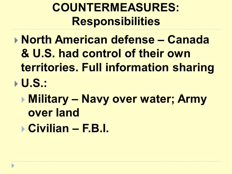 COUNTERMEASURES: Responsibilities