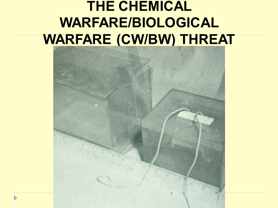 THE CHEMICAL WARFARE/BIOLOGICAL WARFARE (CW/BW) THREAT