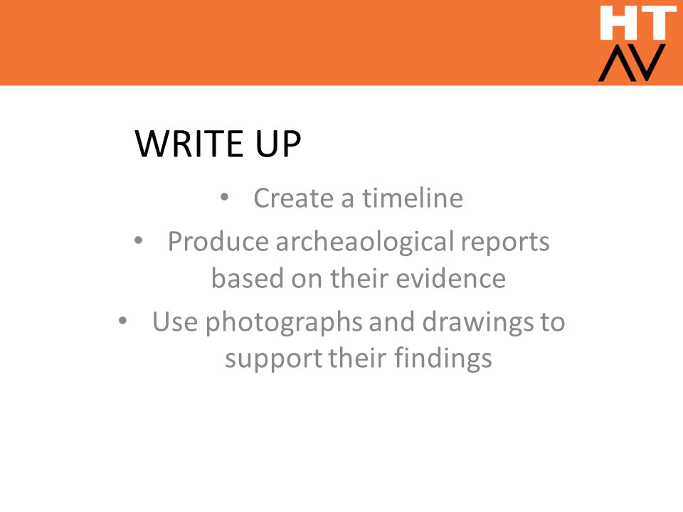 WRITE UP Create a timeline
