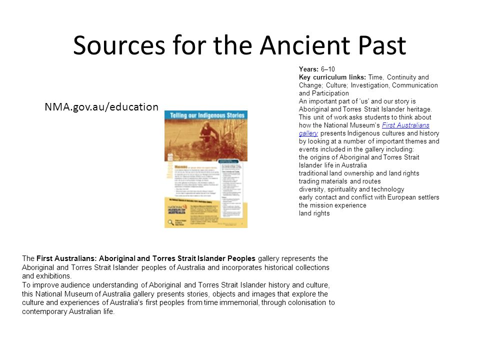 Sources for the Ancient Past