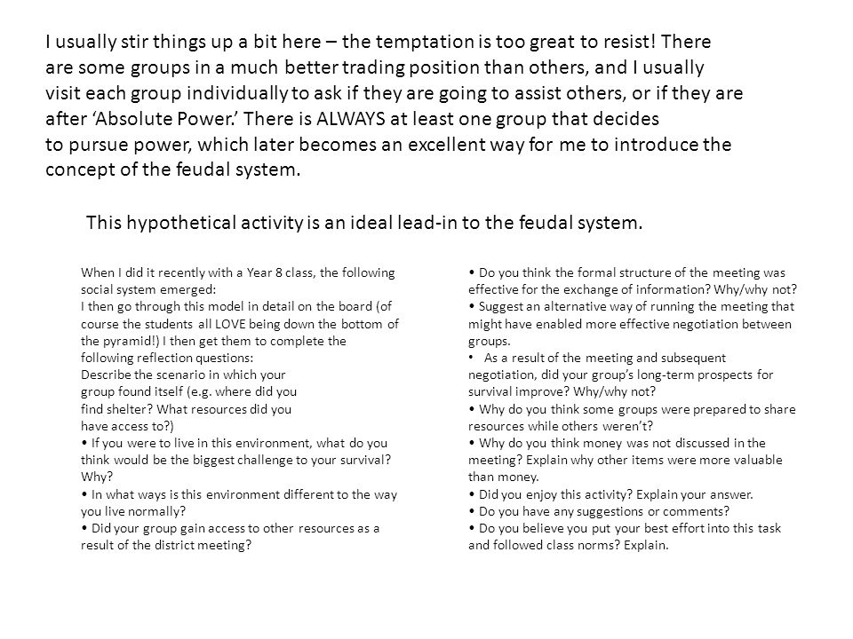 concept of the feudal system.