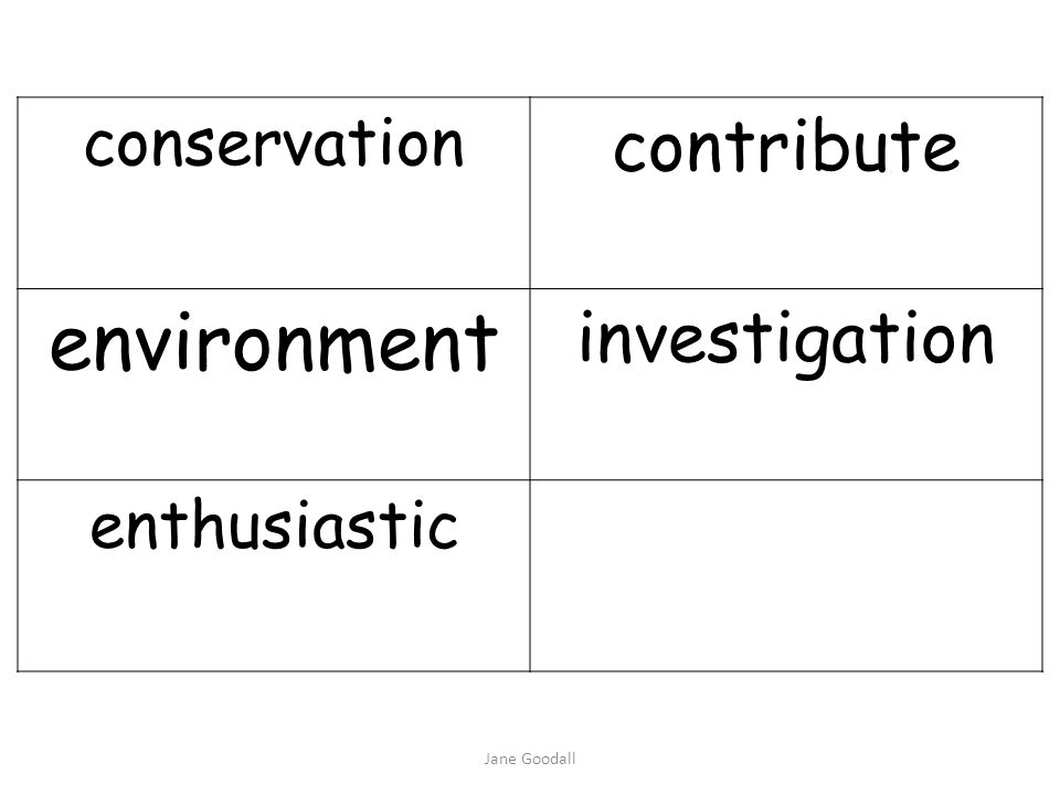 environment contribute investigation conservation enthusiastic