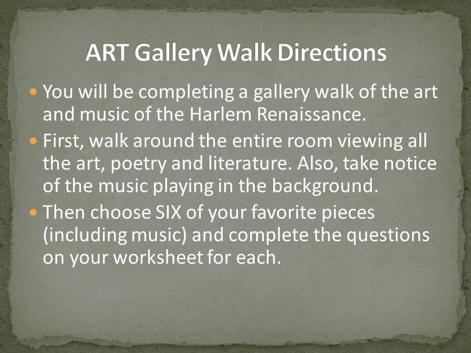 ART Gallery Walk Directions