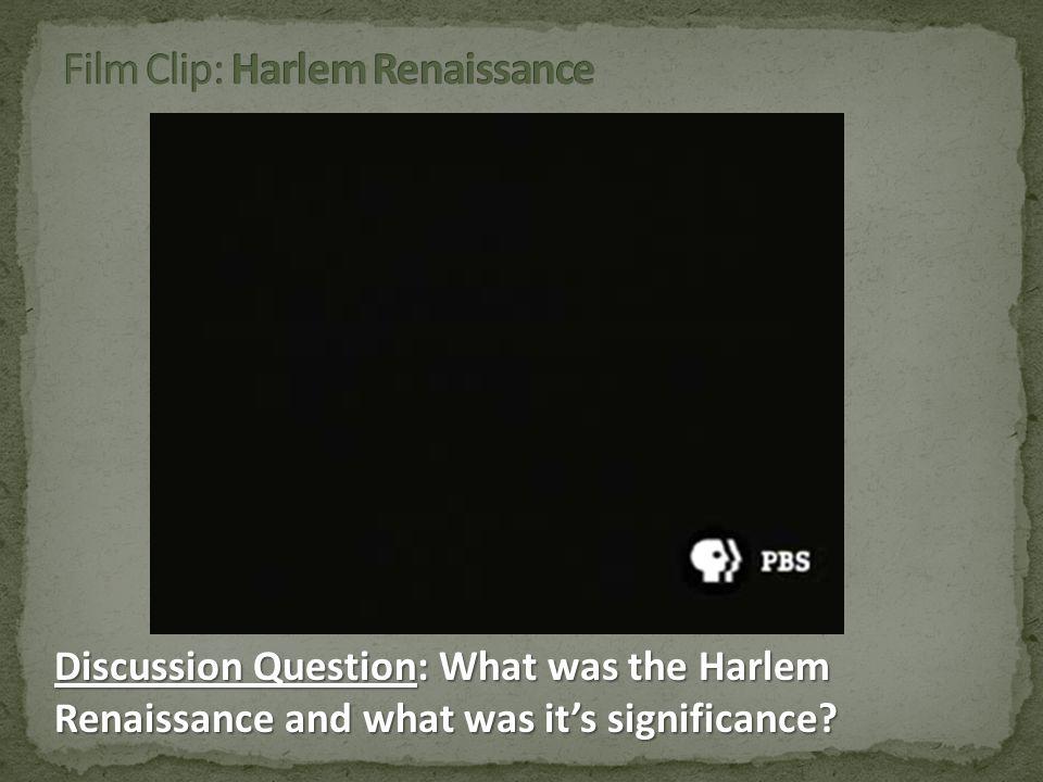 Film Clip: Harlem Renaissance