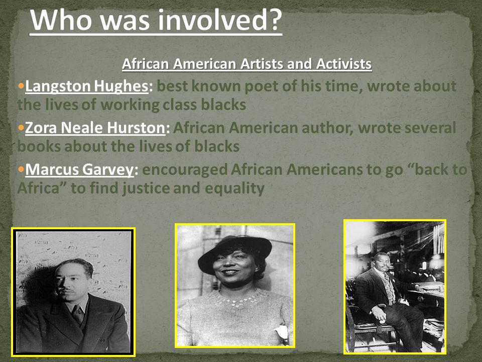 African American Artists and Activists