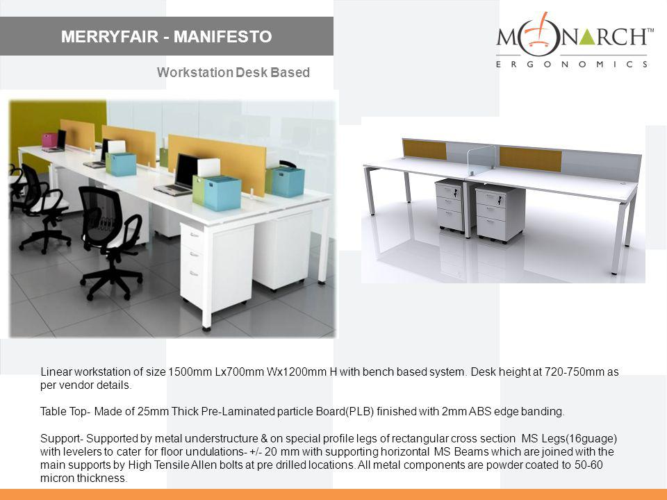 MERRYFAIR - MANIFESTO Workstation Desk Based