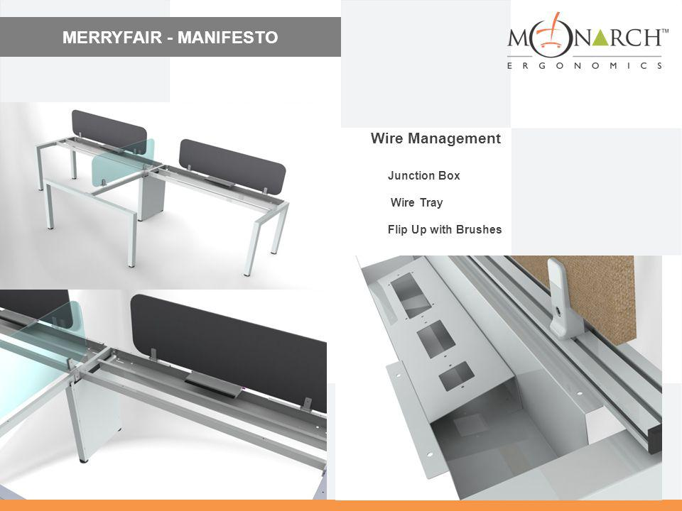 MERRYFAIR - MANIFESTO Wire Management Junction Box Wire Tray