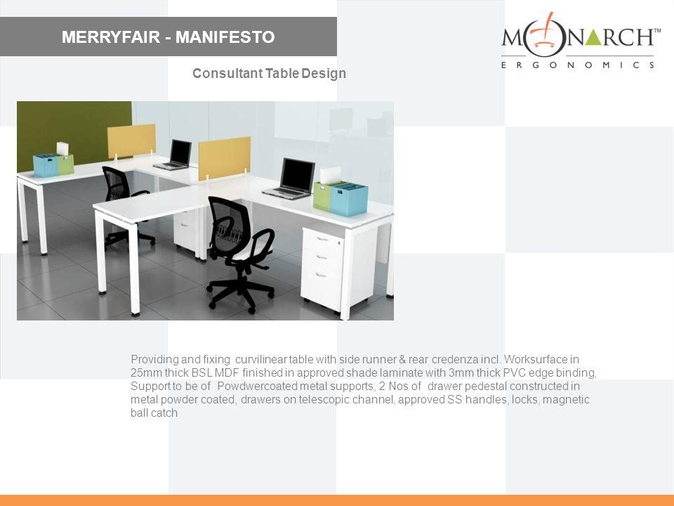 MERRYFAIR - MANIFESTO Consultant Table Design