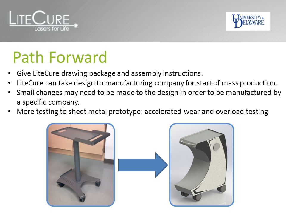 Path Forward Give LiteCure drawing package and assembly instructions.