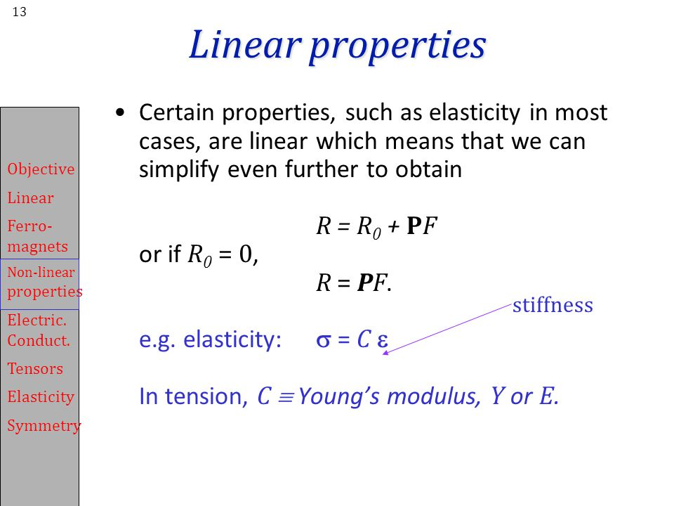 Linear properties