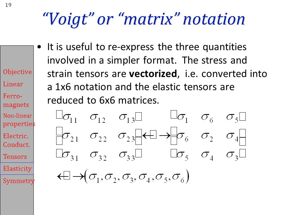 Voigt or matrix notation