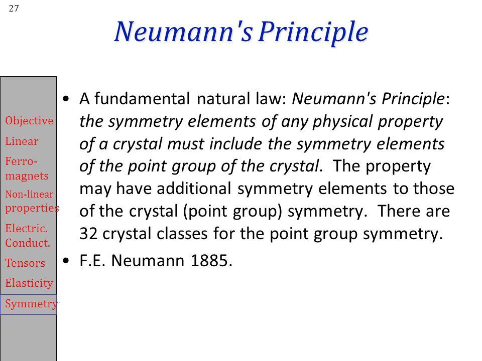 Neumann s Principle