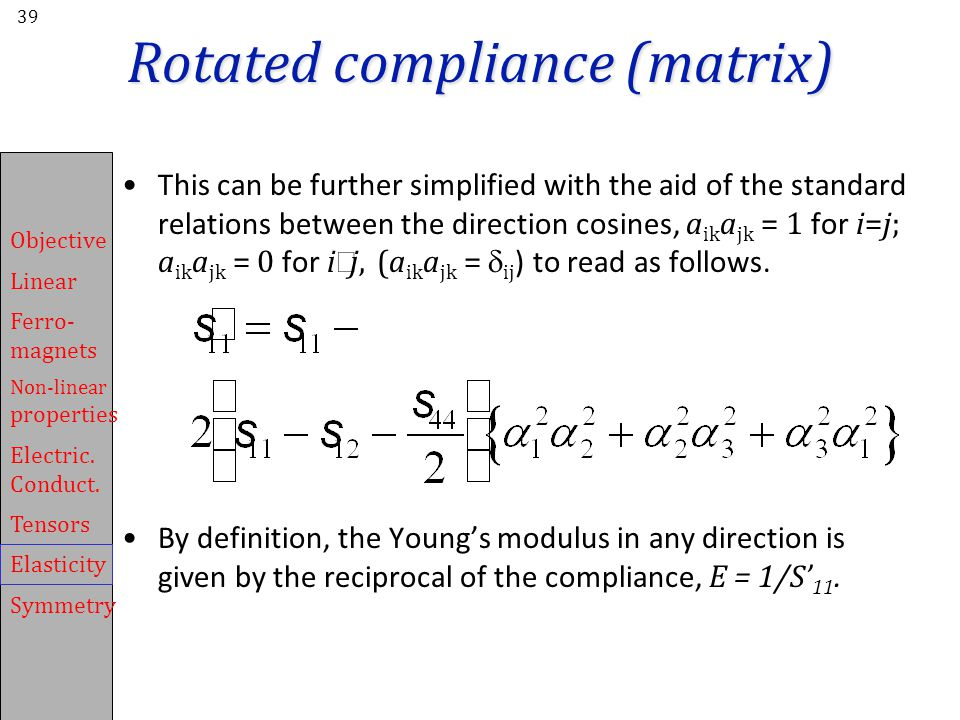 Rotated compliance (matrix)