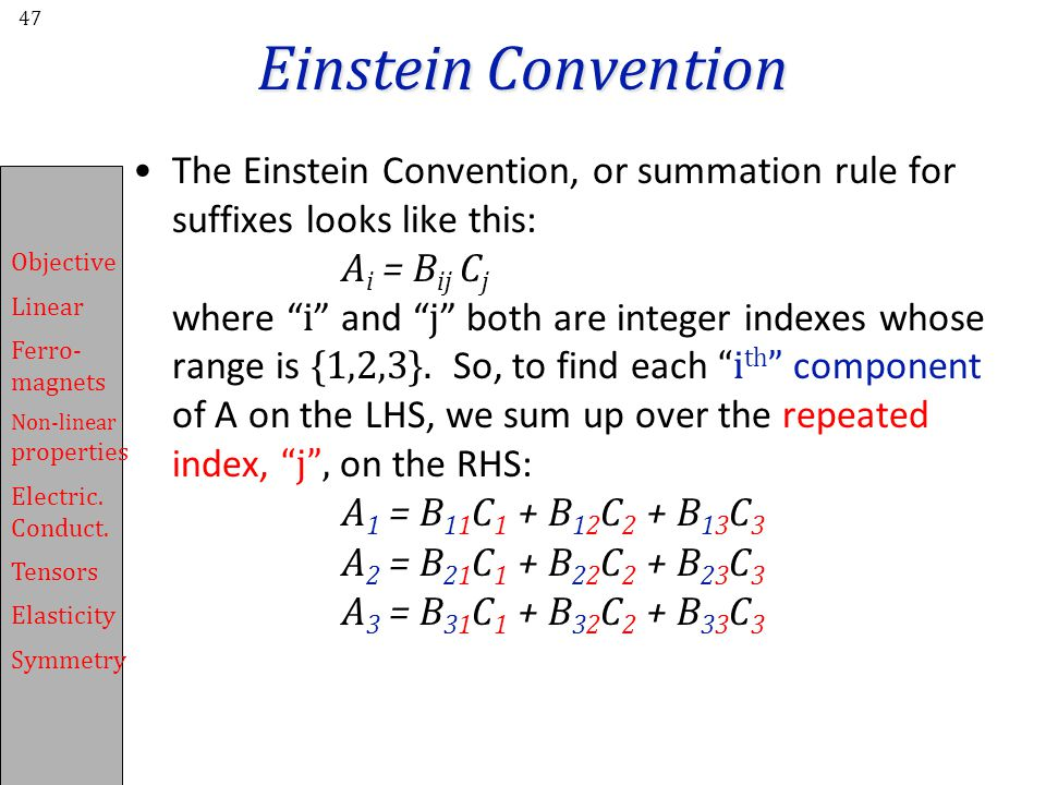 Einstein Convention