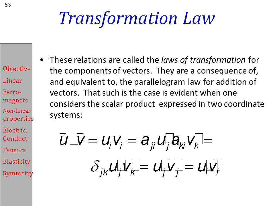 Transformation Law
