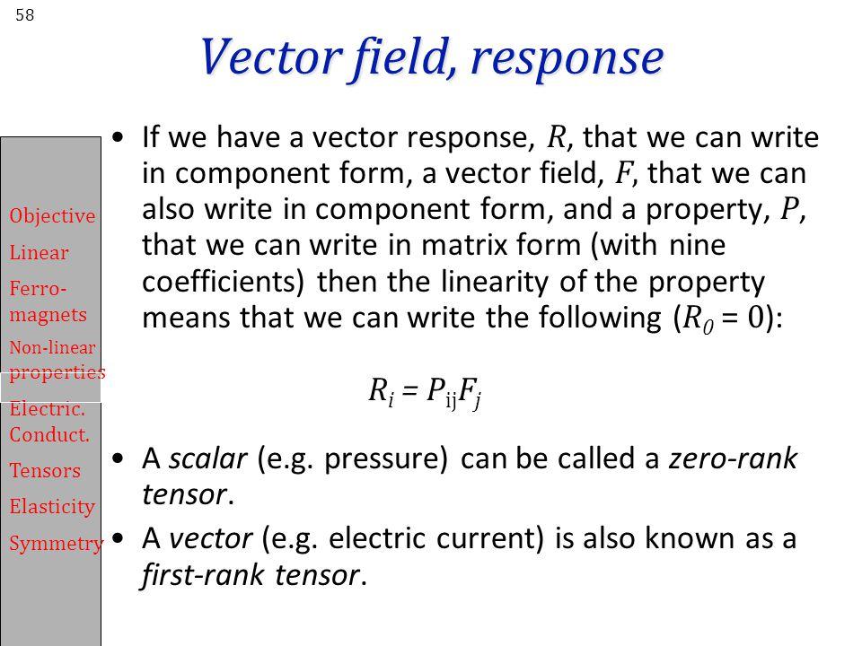 Vector field, response