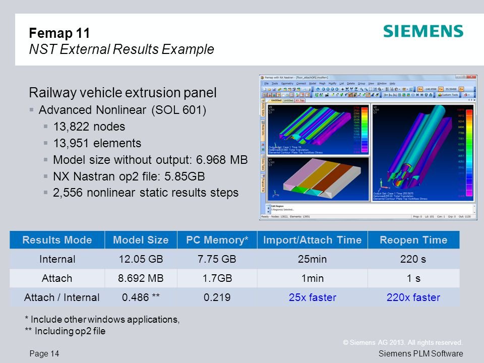 Femap 11 NST External Results Example