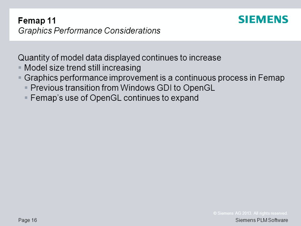 Femap 11 Graphics Performance Considerations