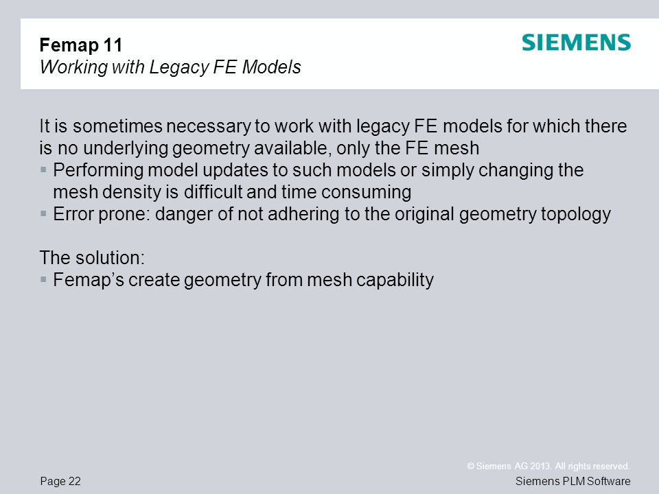 Femap 11 Working with Legacy FE Models