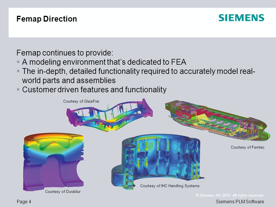 Femap continues to provide: