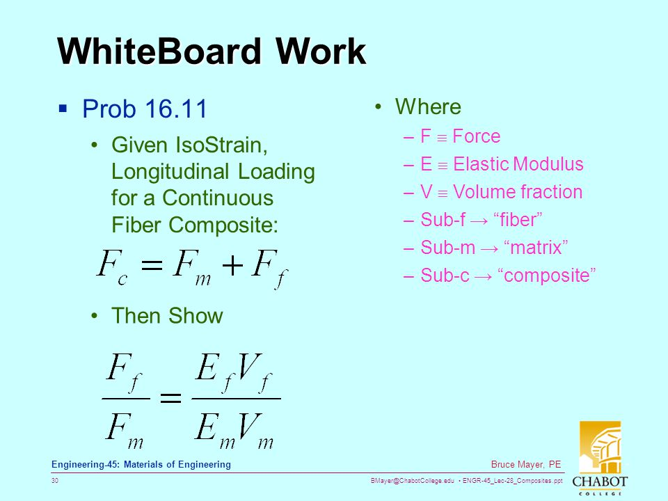 WhiteBoard Work Prob 16.11 Where