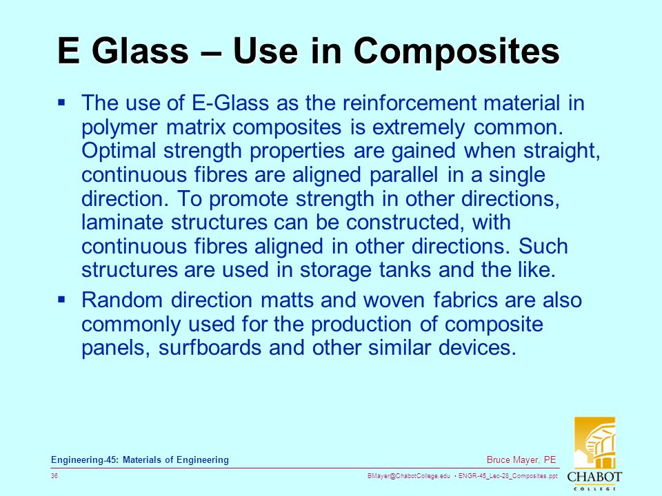 E Glass – Use in Composites