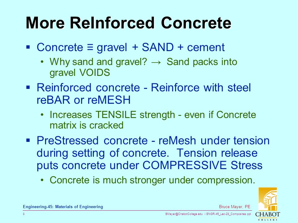 More ReInforced Concrete