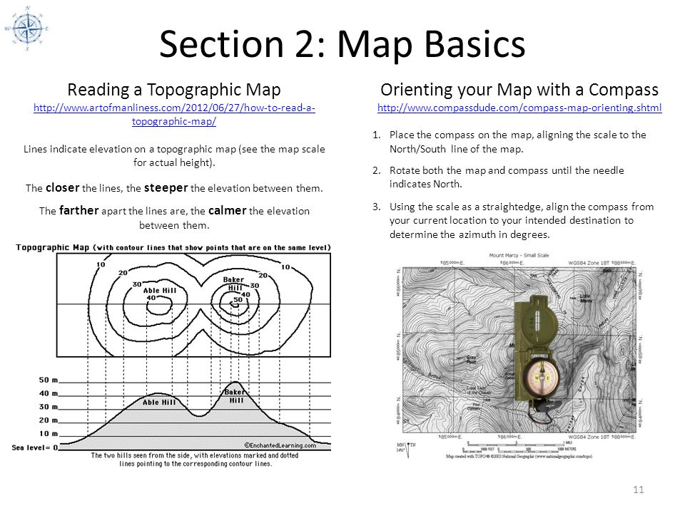 Section 2: Map Basics Reading a Topographic Map