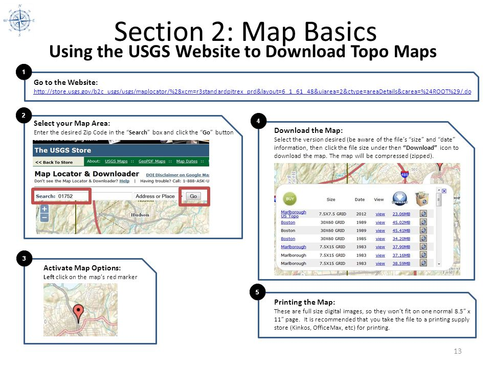 Section 2: Map Basics Using the USGS Website to Download Topo Maps