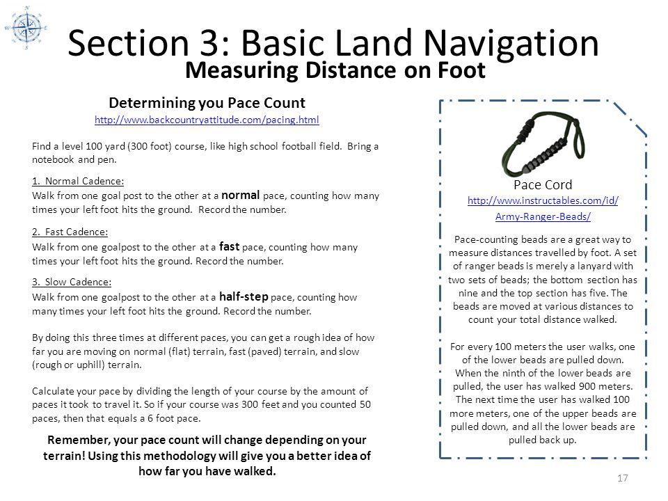Section 3: Basic Land Navigation