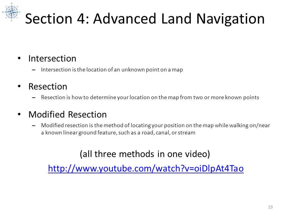 Section 4: Advanced Land Navigation