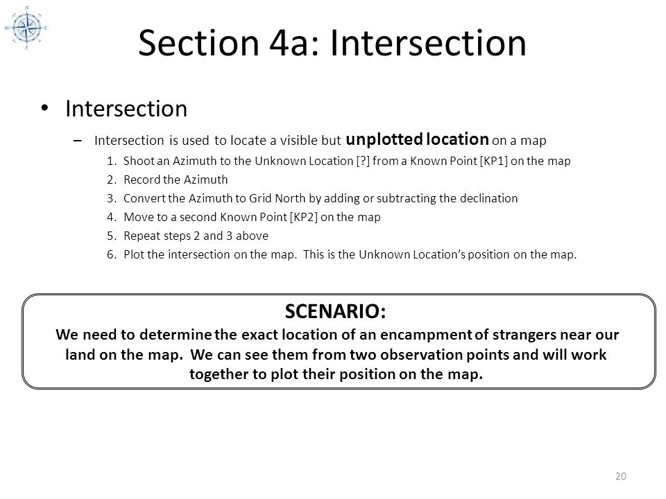 Section 4a: Intersection