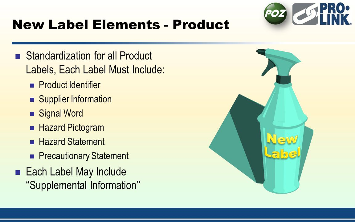 New Label Elements - Product