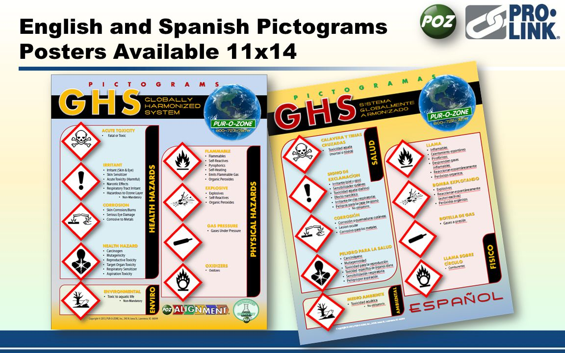 English and Spanish Pictograms Posters Available 11x14