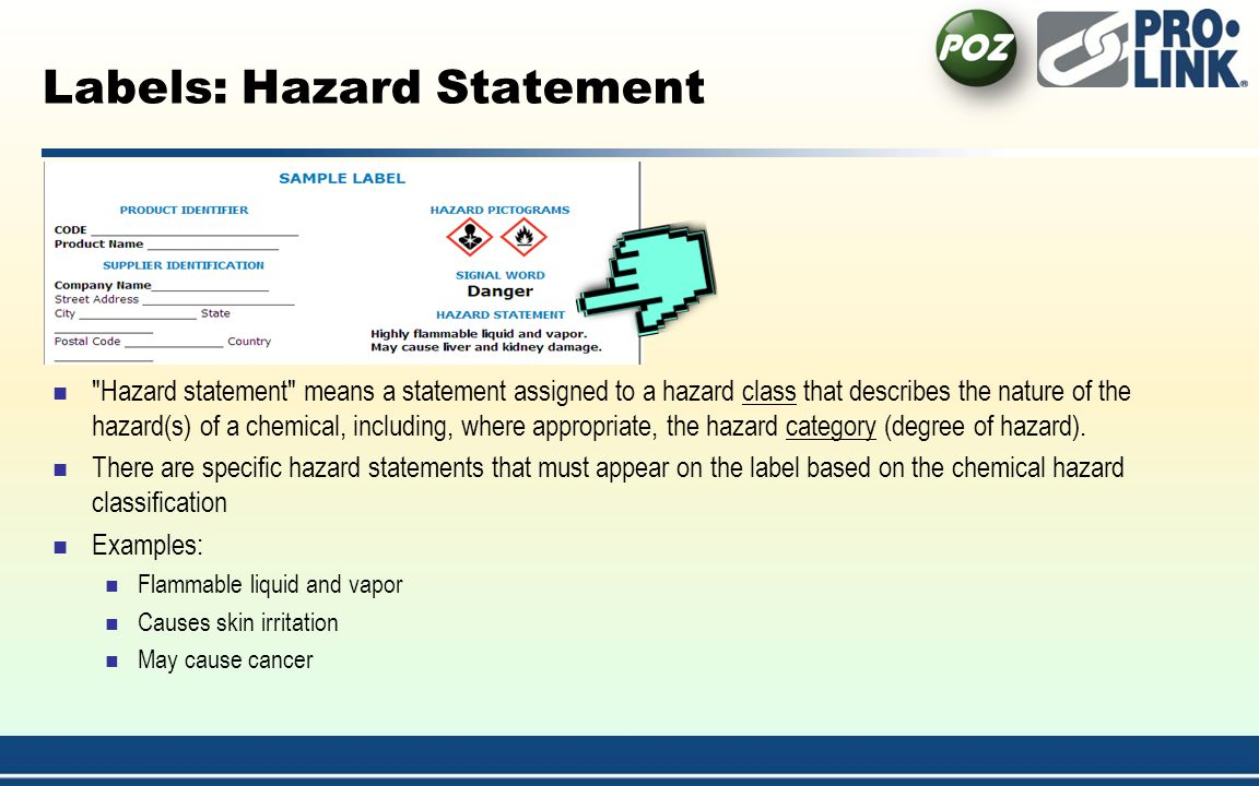Labels: Hazard Statement