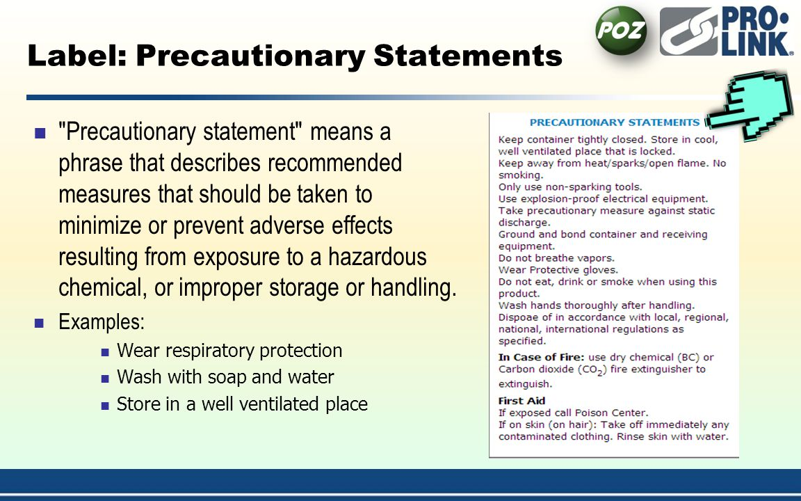 Label: Precautionary Statements