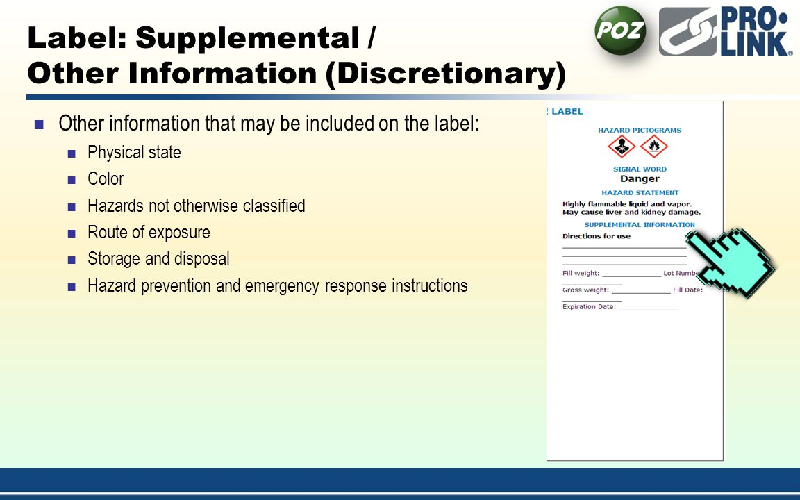 Label: Supplemental / Other Information (Discretionary)