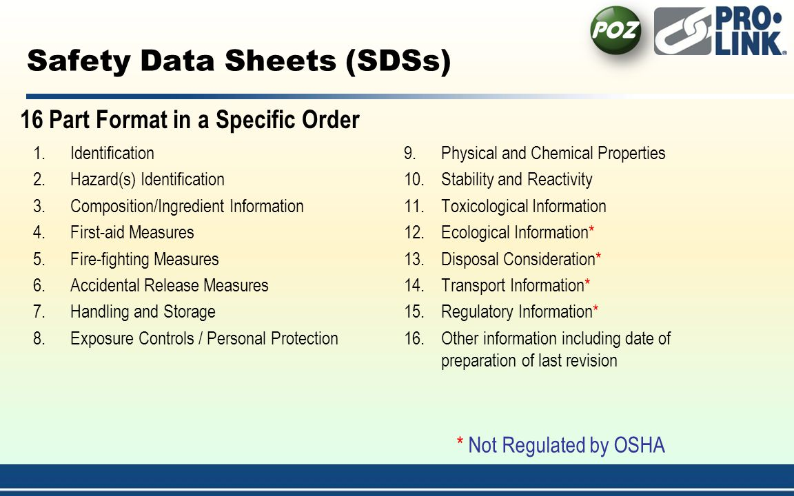Safety Data Sheets (SDSs)