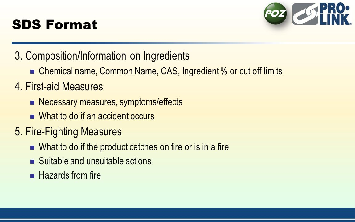 SDS Format 3. Composition/Information on Ingredients