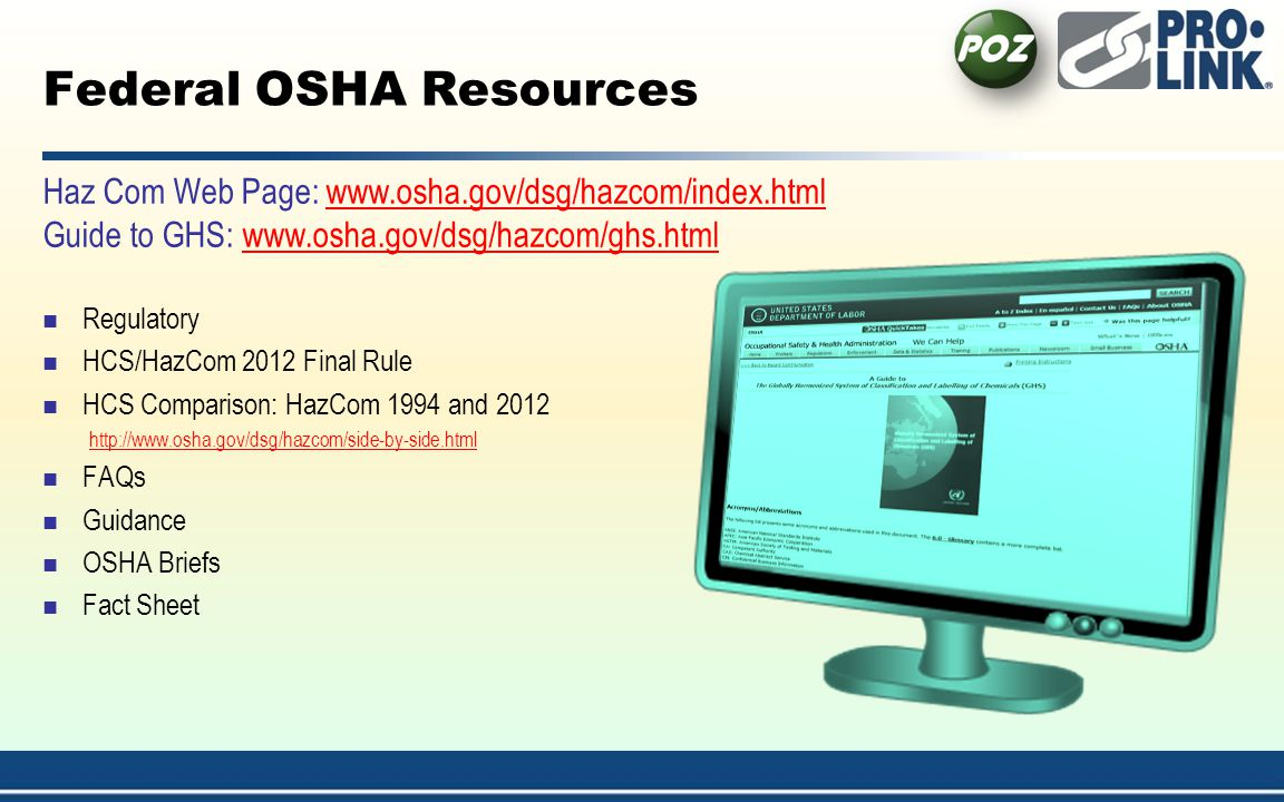 Federal OSHA Resources