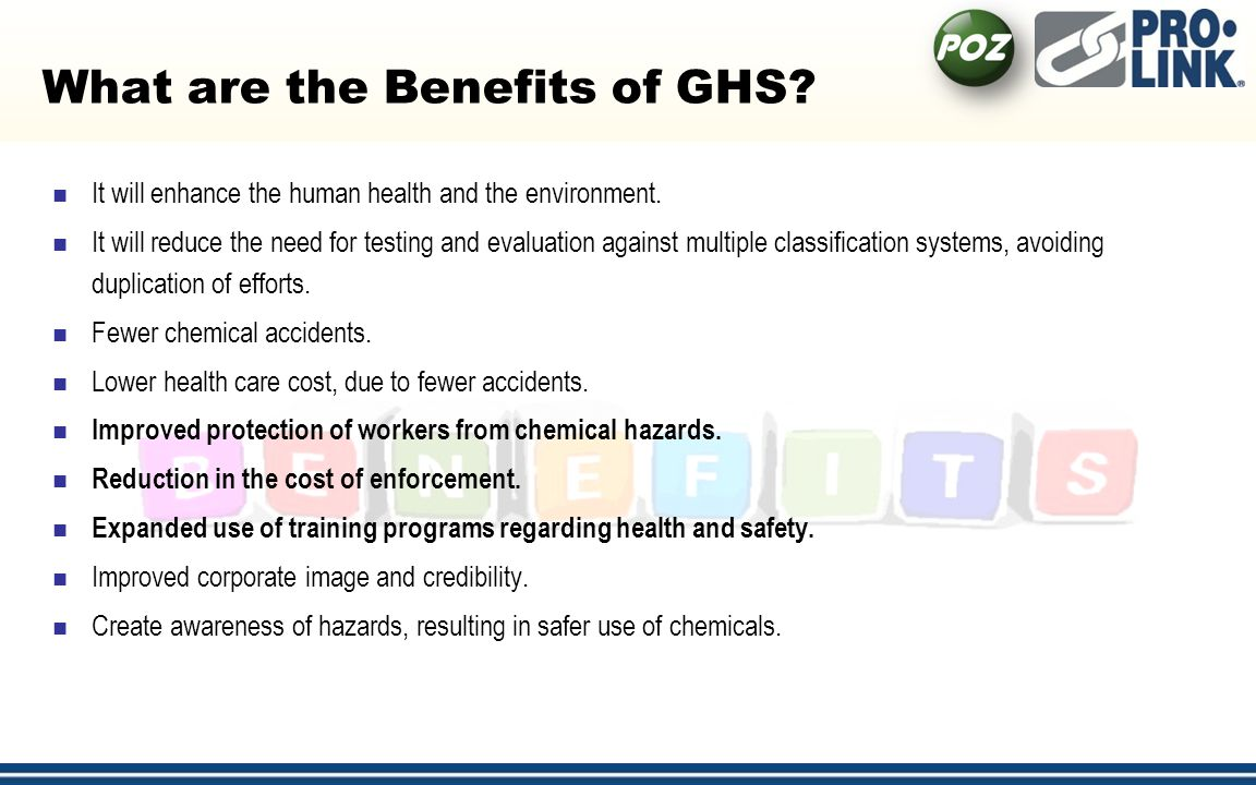 What are the Benefits of GHS