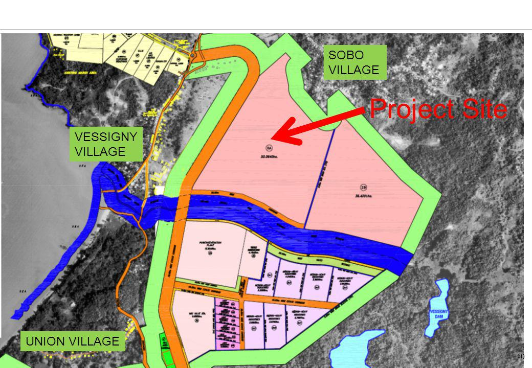 SOBO VILLAGE Project Site VESSIGNY VILLAGE UNION VILLAGE 10