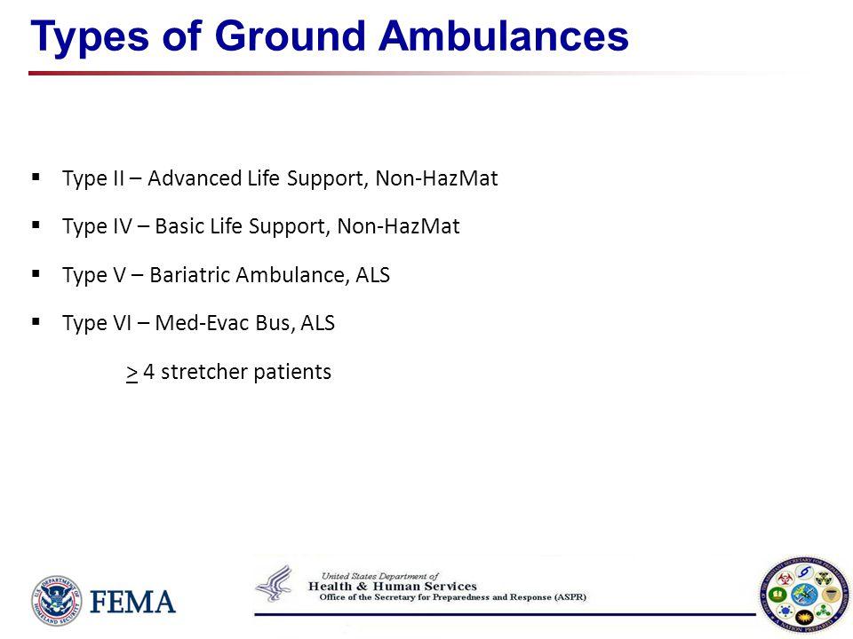 Types of Ground Ambulances