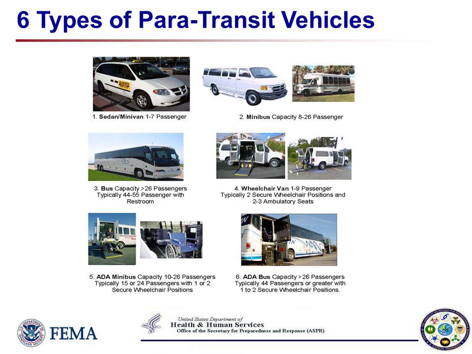 6 Types of Para-Transit Vehicles